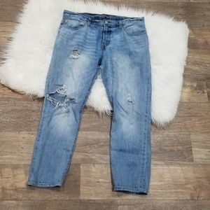 《232》Levi's 501 Custom & Tapered Destroyed Jeans